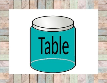 Mason Jars Table Colors