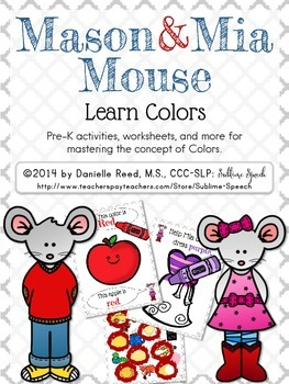 Mason & Mia Mouse: Colors