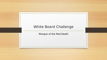 Masque of the Red Death Whiteboard Challenge Prediction Game