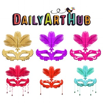 Masquerade Clip Art - Great for Art Class Projects!