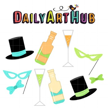 Masquerade Party Clip Art - Great for Art Class Projects!