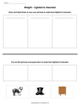 Weight Activities - 4 pages