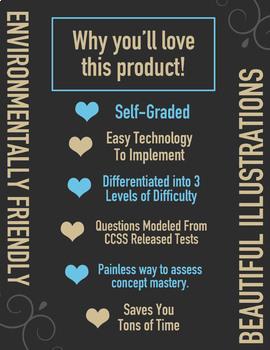 MASS & CAPACITY Task Cards ★ Google Classroom Math 3rd Grade ★ 3.MD.2 Assessment