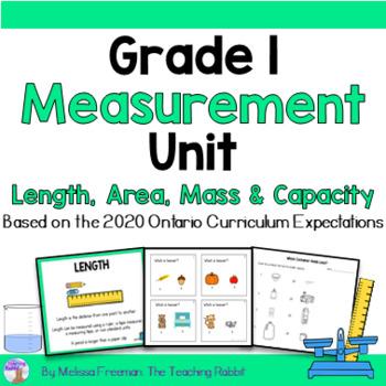 Mass, Capacity & Temperature Unit for Grade 1 (Ontario Curriculum)