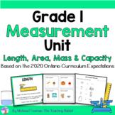 Mass, Capacity & Temperature Unit for Grade 1 (Ontario Cur