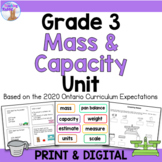 Mass, Capacity & Temperature Unit for Grade 3 (Ontario Curriculum)
