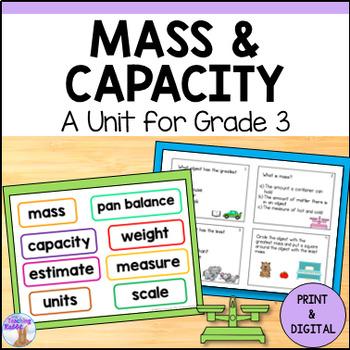 Mass, Capacity & Temperature Unit for Grade 3 (Ontario Curriculum)