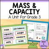 Mass, Capacity & Temperature Unit for Grade 3 (Ontario Cur