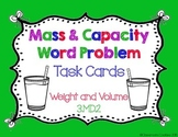 Mass & Capacity Word Problem Task Cards (Common Core Align