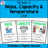 Mass, Capacity and Temperature Unit for Grade 2 (Ontario Curriculum)