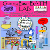 Gummy Bear BATH LAB- Measure MASS(g) & LENGTH(cm) after a 20 minute soak!+extras