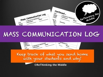 Mass Communication Log
