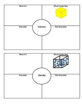 Mass Density and Volume (ESL)