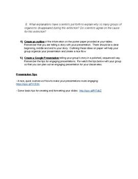 Mass Extinction Google Presentation Guidelines