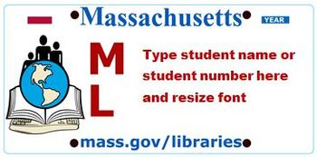 Mass. License Plates - ID Tags on Labels