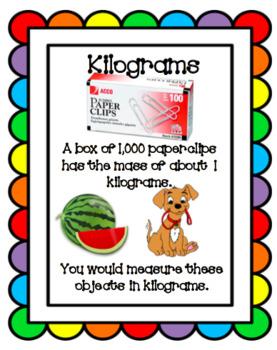 Mass- Measuring in Kilograms or Grams