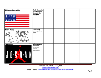 Mass Media Persuasion Analysis Project (Common Core Aligned)