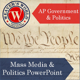 AP Gov Mass Media and Politics PowerPoint with Lecture Notes