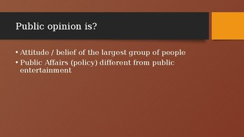 Mass Media and Public Opinion Powerpoint