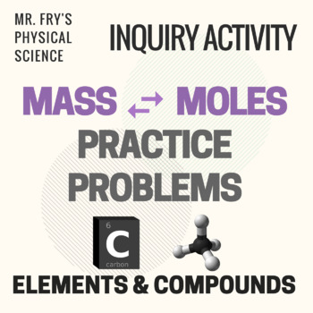 Mass Moles Conversion Practice Problems By Mr Frys Physical Science