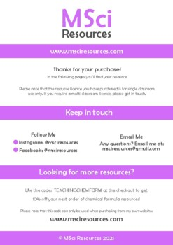 Mass, Moles and Gram Formula Mass Middle and High School Chemistry Doodle Notes