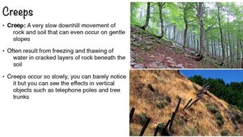 Mass Movement Erosion Powerpoint