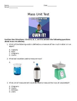 Mass Unit Test