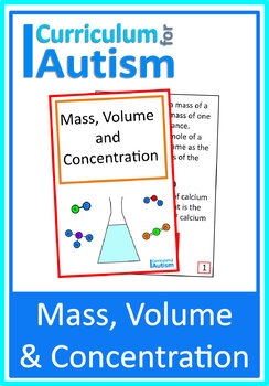 Mass, Volume, Concentration Interactive Adapted Book, Autism Science