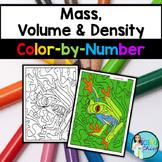 Mass, Volume & Density Color-by-Number