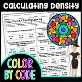 Mass, Volume, & Density Science Color By Number or Quiz