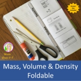 Mass, Volume & Density Foldable