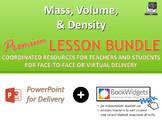 Mass, Volume, & Density PREMIUM LESSON BUNDLE | Distance Learning