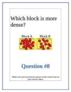 Mass, Volume, Density Task Cards/Lab Activity