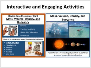 Mass, Volume, Density, and Buoyancy - 5E Lesson Bundle