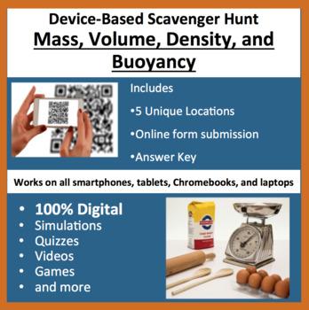 Mass, Volume, Density, and Buoyancy – A Digital Scavenger Hunt Activity