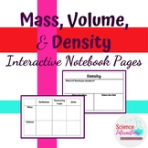 Mass, Volume, and Density Interactive Notebook Pages Graphic Organizer Notes