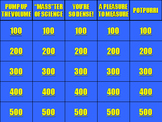 Mass, Volume, and Density Jeopardy!