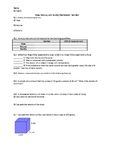 Density - Worksheet