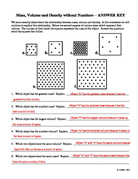 Mass Volume Density Worksheet Answers – webmart.me
