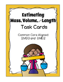 Mass, Volume, and Length Estimation Task Cards