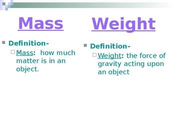 Mass Weight Density PPT