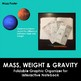 Mass, Weight & Gravity Foldable for Interactive Notebooks