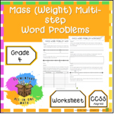Mass (Weight) Multi-Step Word Problems - 4th Grade Measurement (4.MD.2)