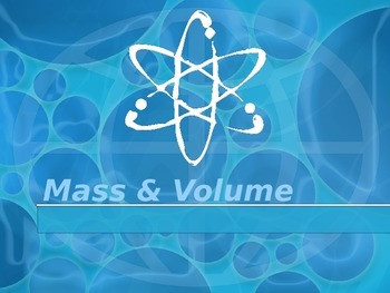 Mass, Weight, and Volume