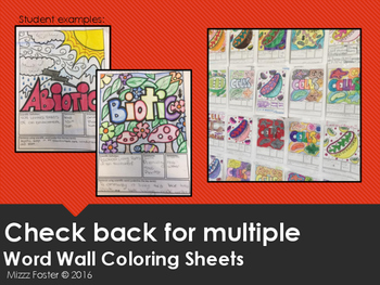 Mass Word Wall Coloring Sheet
