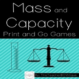 Mass and Capacity: 8 Print and Go Games