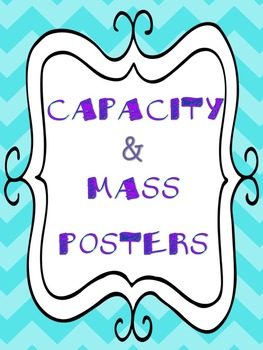 Mass and Capacity Anchor Charts