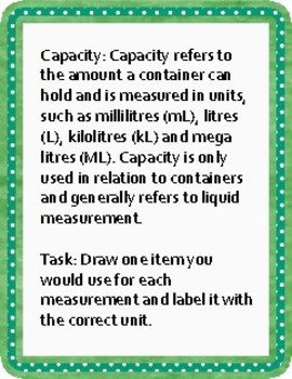 Mass and Capacity Discription with an activity