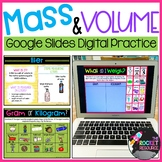 Measuring Volume and Mass for Google Slides 3.MD.2