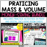 Mass and Volume Bundle 3.MD.2 Practice in Print, Digital,